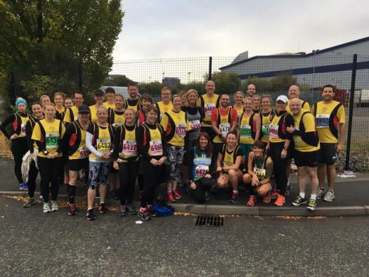 Pumas supporting each other at manchester half marathon