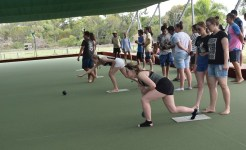 Lawn bowling on Year 12 Camp