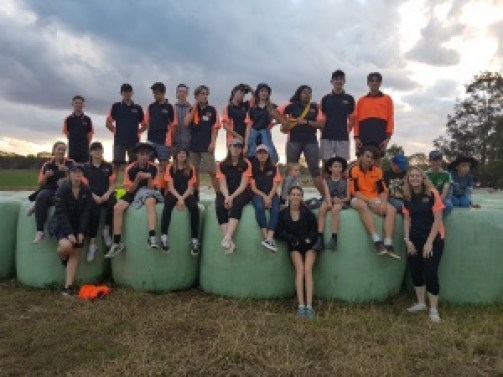 Students helping out in Monto