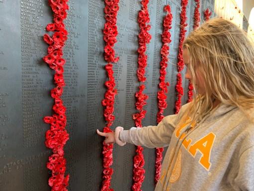 Year 10 student at War Memorial