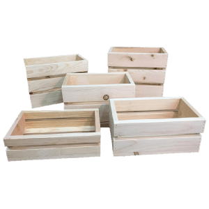 small pine wood crates