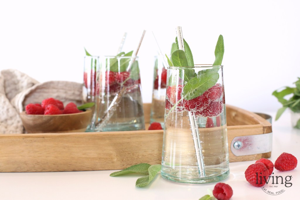 Raspberry Sage Infused Water