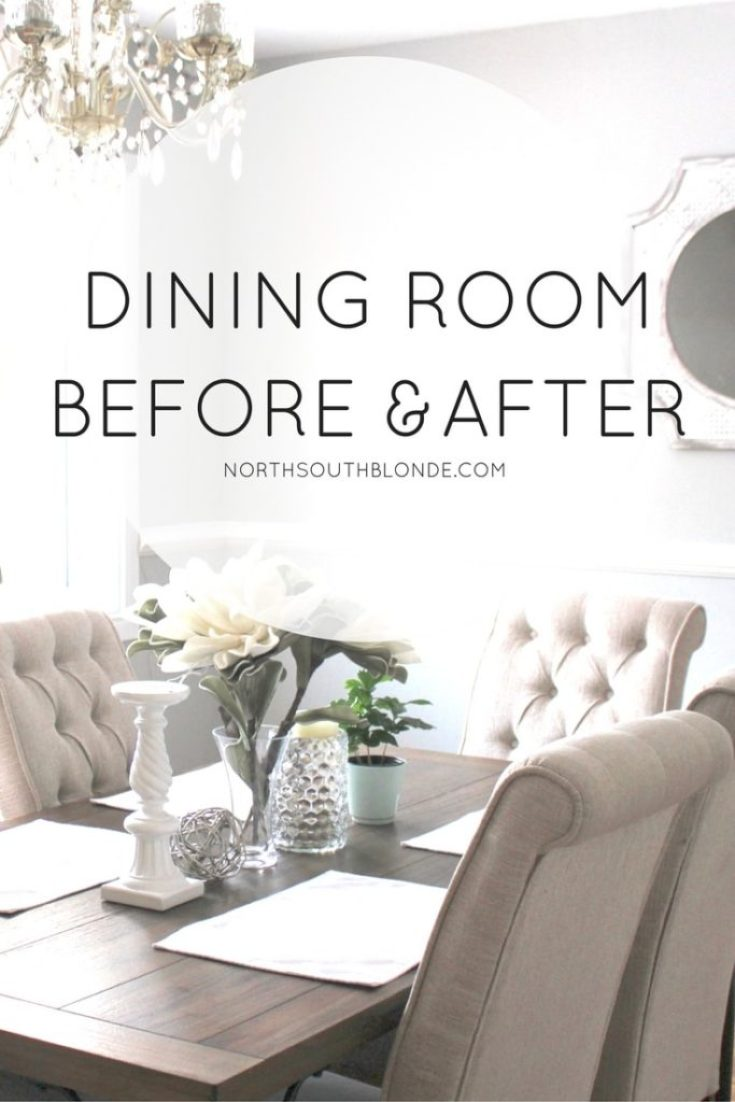 Dining Room Before and After (Ashley Furniture Tripton Dining Set)