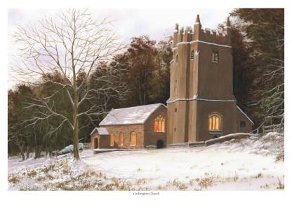 Cockington Church Snow