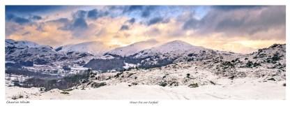 Winter snow over Fairfield