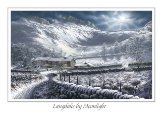 Langdales by Moonlight Greeting Card