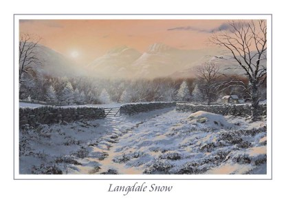Langdales Snow Greeting Card