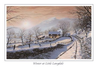 Winter at Little Langdale Greeting Card
