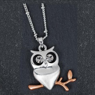 Owl Pendant Silver Plated