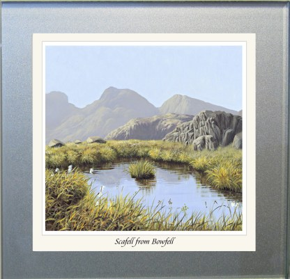 Scafell from Bowfell Glass Coaster