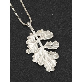 Leaf Pendant Silver Plated