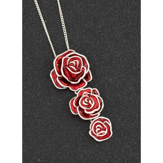 Triple Rose Drop Pendant