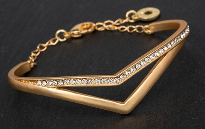 Arrow Shadow Diamante and Rose Gold plated Bracelet