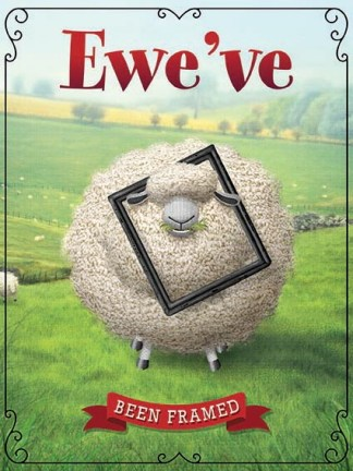 'Ewe've been Framed' Metal Wall Sign