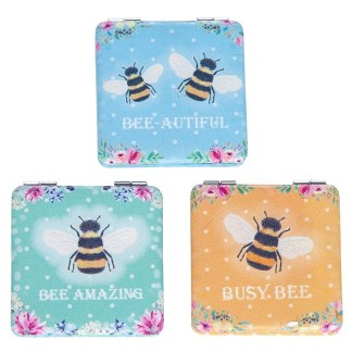 Bee Happy Handbag Mirror