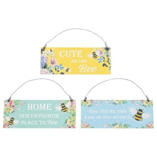 Bee Happy Hanging Plaque