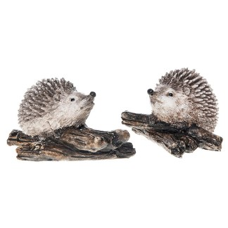 Happy Hedgehog on Twigs - Left