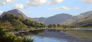 Buttermere and Haystacks Original Oil Painting