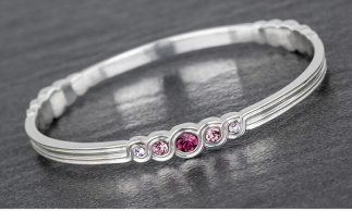 Swarovski style Serenity Bangle