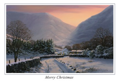 Evening Glow over Wasdale Christmas Card