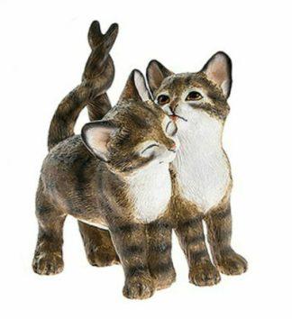 Cute Kitten Pair Figurines Brown