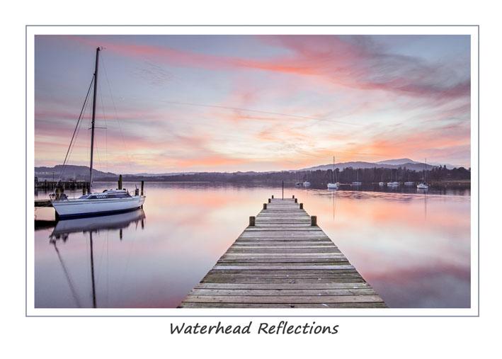 Waterhead Reflections Greetings Card