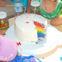 How to make an Easy Rainbow Cake - the Cheat Version!