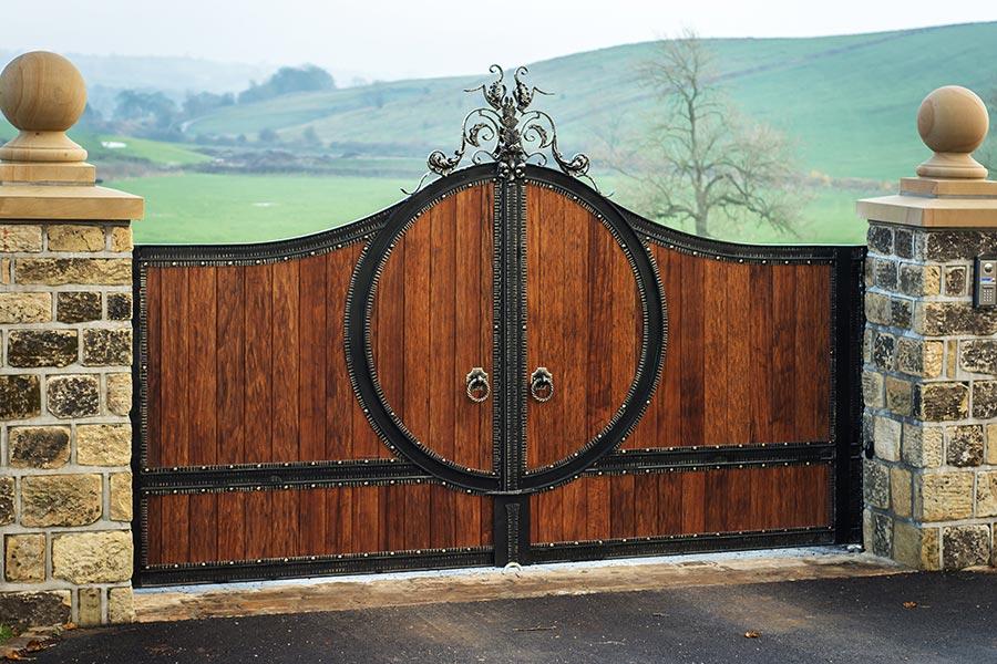 Zeus Hardwood Gates Driveway Gate Estate Gates