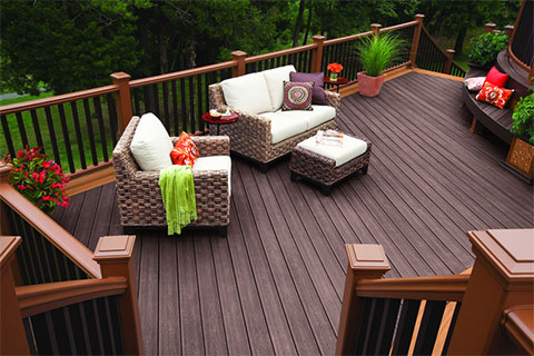 trex composite decking railing