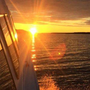 Midnight sun in Skagafjordur