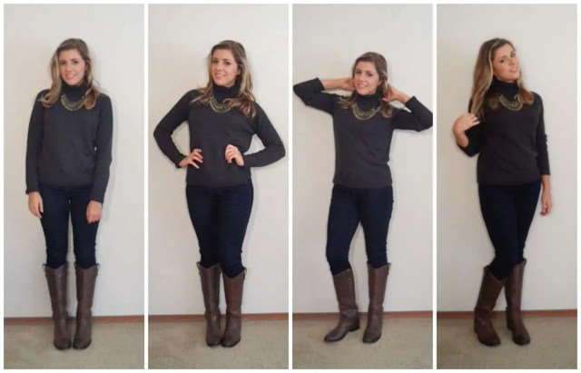 Add a statement necklace to add some pop and bling to your favorite turtleneck - How to Wear a Turtleneck