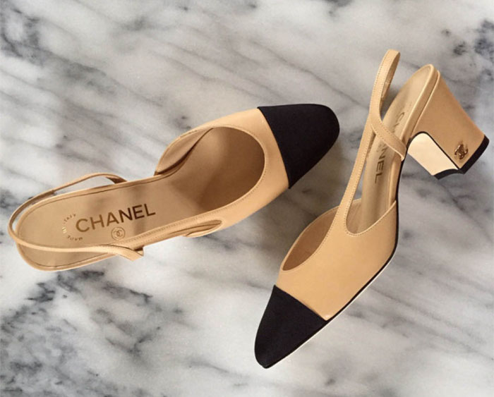 a65147b49158ad Designer Alternative: Chanel Cap Toe Slingback - Northwest Blonde