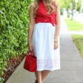 how to wear eyelet skirt 4 ways - j.crew eyelet skirt