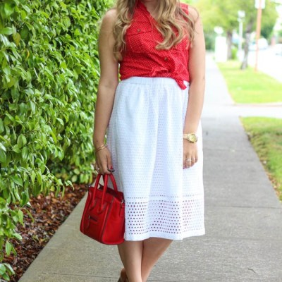 1 Skirt, 4 Ways | How to Wear Eyelet Skirt