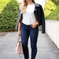 husband picks my outfit - casual date night - paige skinny jeans