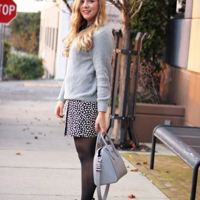 jcrew bow sweater - wearing silver for holidays - silver holiday outfit