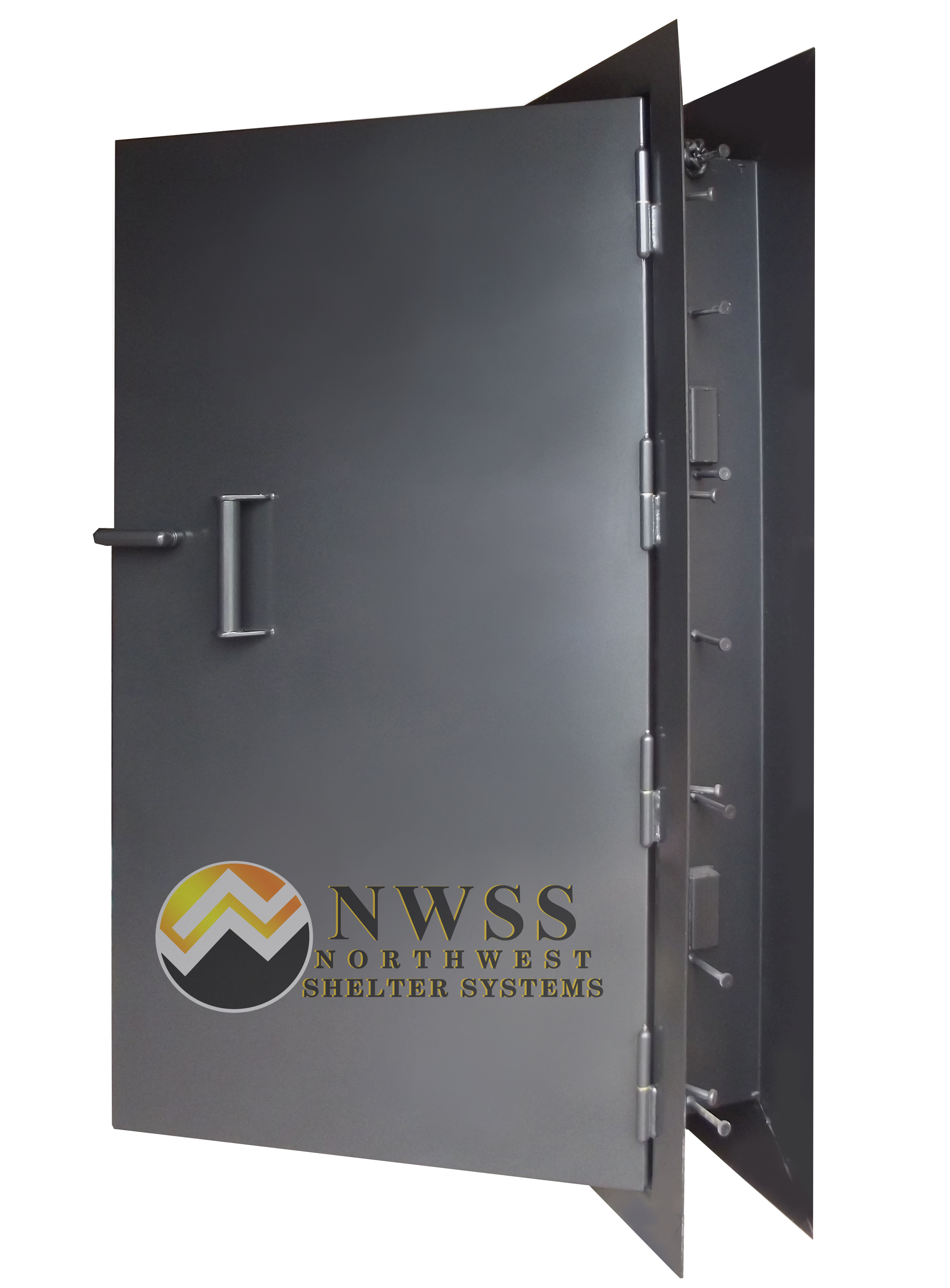 High Security Shelter : Steel and concrete filled blast doors for high security