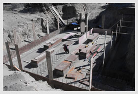 Bomb Shelter Design being Built