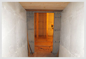 Rooms Inside A Bomb Shelter Being Built