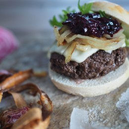 Wild Moose Burger with Forest Berry Relish