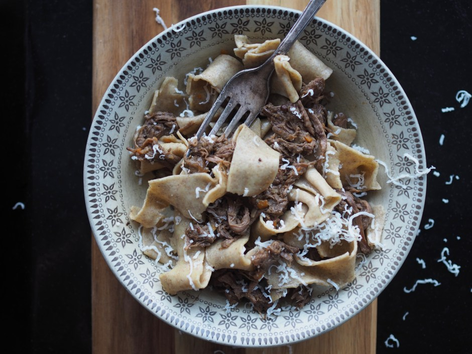 Hand-Cut Rye Noodles with Beer-Braised Beef