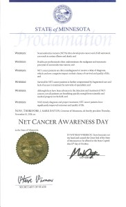 NET Cancer Day - November 10, 2016
