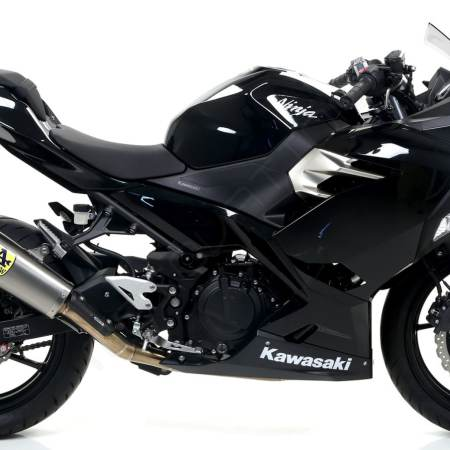 Spark Konix Stainless Steel Full System Exhaust - Kawasaki Ninja 400