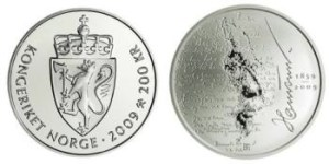 Hamsun coin Poto: Norges Bank.