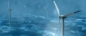 StatoilHydro has developed HyWind based on floating concrete constructions familiar from North Sea oil installations. In this way we exploit the wind where it is strongest and most consistent — far out to sea. Photo: StatoilHydro.