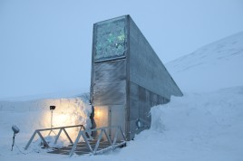 Entrance to the Global Seed Vault.