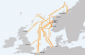 The Norwegian gas pipeline grid. Photo: BarentsObserver.com