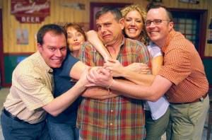 L to R: Tom Lommel, Judith Heneghan, Tom Gibis, Katherine Brunk and Brad MacDonald. Photo: Doug Engalla.