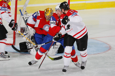 Canada wasn't dominating, but it did what it had to do in defeating Norway. Photo: Jukka Rautio / HHOF-IIHF Images