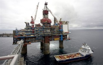 The Sleipner gas platform, some 250 kms off Norway's coast in the North Sea
